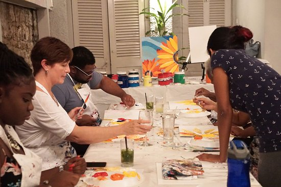 Holetown, Barbados: Cocktails, Canapes and Canvas at The Mews with Jeena Chatrani!