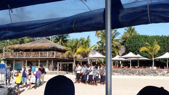 Castaway Island Day Trip: welcome comitee