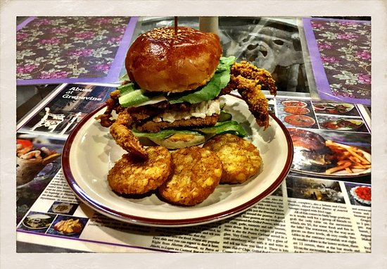 Soft Shell Crab Burger @The Grapevine.