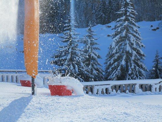 Vallorcine, Prancis: l'hiver s'installe