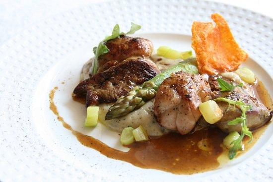 Fleur de Sel: Duo de riz de veau et foie gras poêlé