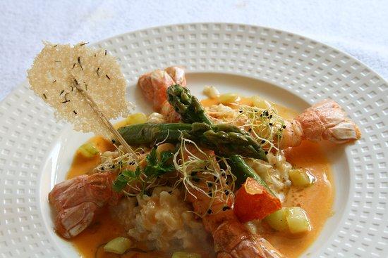 Fleur de Sel: Langoustine aux épices en risotto