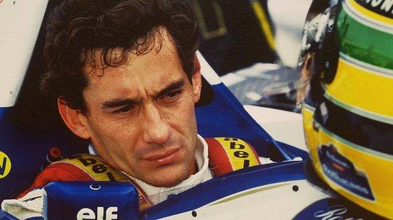Ayrton Senna Exhibition Picture Of Italian Factory