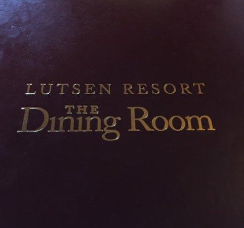 Lutsen, Μινεσότα: Dining room menu