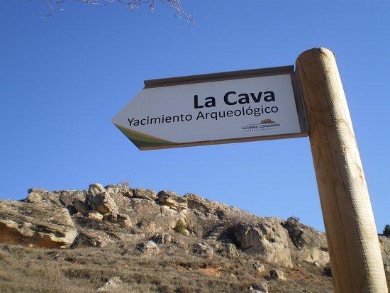 Garcinarro, Ισπανία: Panel indicativo.