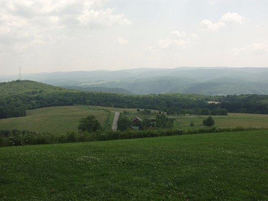 Chalk Hill, PA: View of Laurel Mountains
