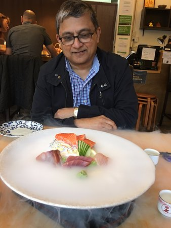 Kohimarama, New Zealand: Sashimi delightfully preented