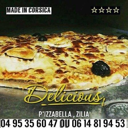 Zilia, Frankreich: Pizzeria snacking petite restauration au cœur du village soirée avec animation l été ouvert  l a