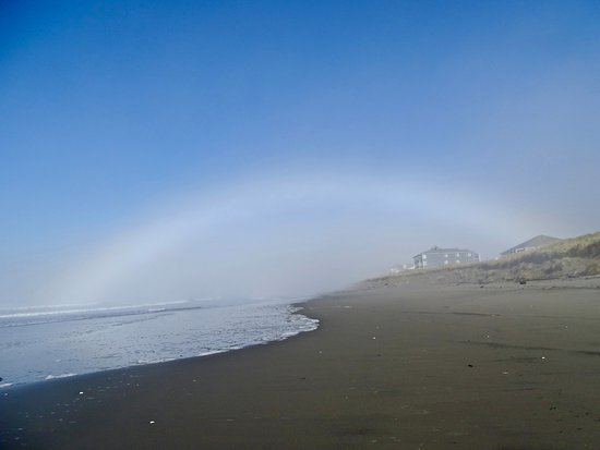 Ocean Shores, WA: fog lifting