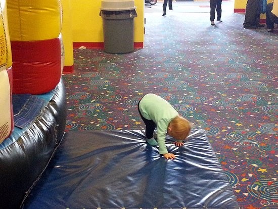 Niles, IL: Even if you're too little to climb in, I can have fun on these mats!