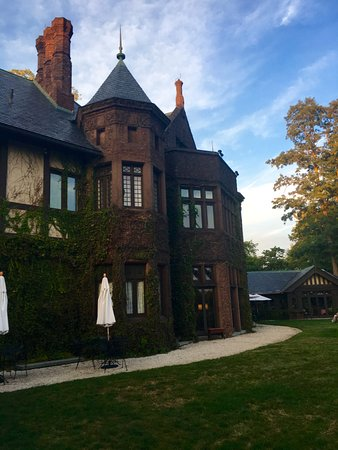 Lenox, MA: From the back garden - the main house