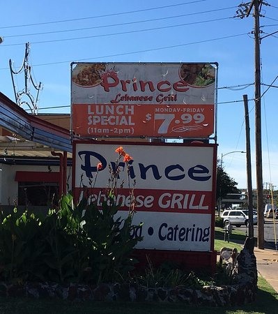 Prince Lebanese Grill : Restaurant Road Sign