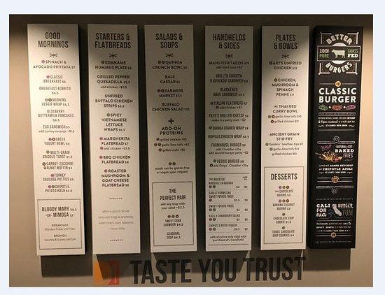 A Confusing Menu Picture Of Lyfe Kitchen Memphis Tripadvisor