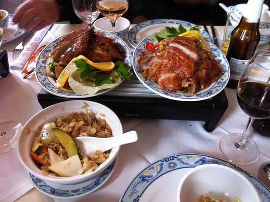 Lyss, سويسرا: Kantonesische Ente und kantonesischer Reis