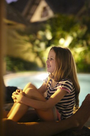 Mutiara Bali Boutique Resort & Villas: Outdoor longes, gazebo and enclosed, secure gardens. Great if you've got kids with you