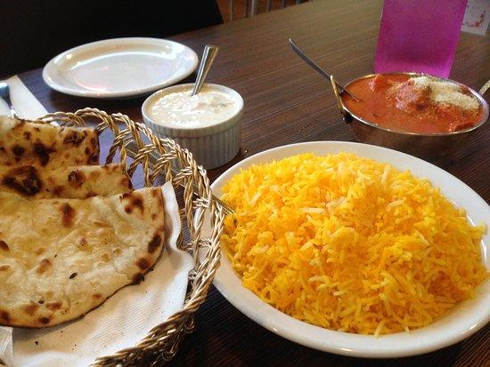 Moonah, Australia: Butter chicken, saffron rice and peshwari naan