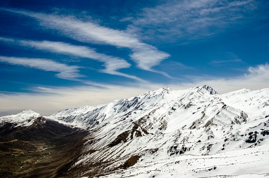 Chelgerd, Iran: SAMSAMI Snowy mountain pass with spectacular View.