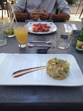 Listrac-Medoc, Frankrike: Tartare avocat tomate séché...