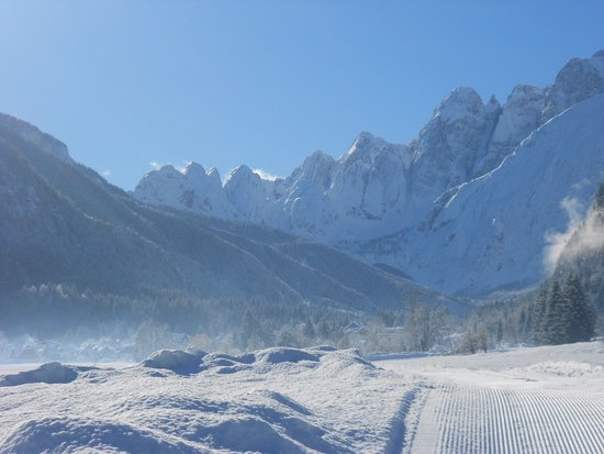 Valbruna, Italia: Vista invernale sulle Alpi Giulie