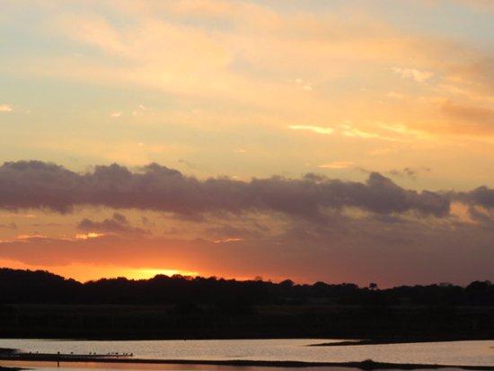 Westleton, UK: Sunset over the scrape