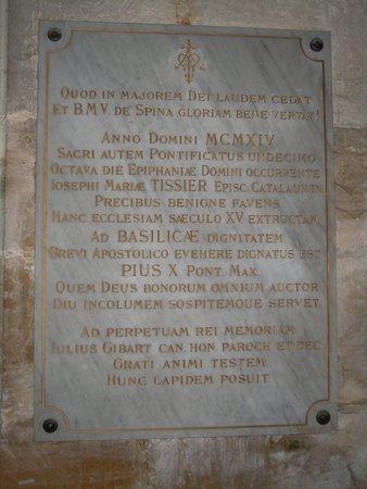 L'Épine, France : Plaque mémorial
