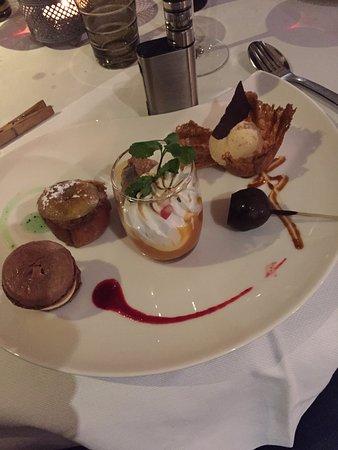 Blegny, Bélgica: dessert menu clement