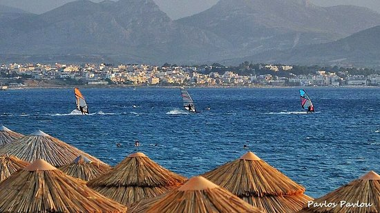 Loutraki, Grécia: Best place for wind serfing...