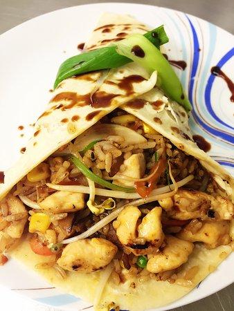 panda express oriental food panda wrap