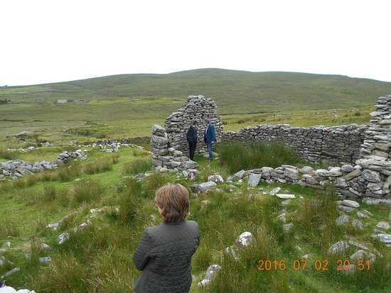 Achill Island, Ierland: Remains of a famine house