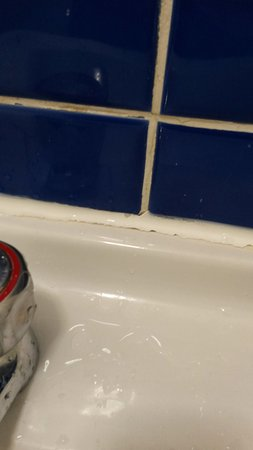 Ambassador Hotel: dirty grouting in the bathroom