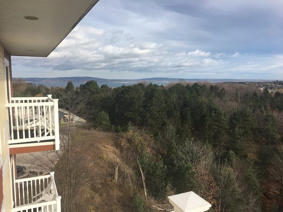 Petoskey, MI: Stunning view from each of the 4 balconies in the Penthouse Suite!