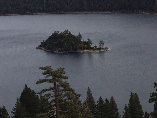 Vikingsholm: View of Emerald Bay From the Ridge near the Parking Area