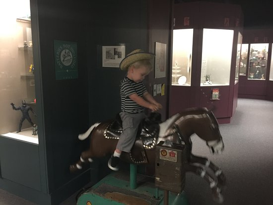 Prairie Museum of Art & History: ride the horse for free- and as long as you want
