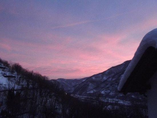 Roure, Italy: tramonto.....
