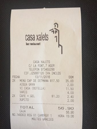 Ager, Ισπανία: Restaurant Casa Xalets