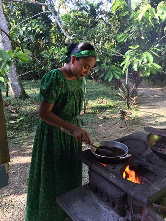 Hone Creek, Costa Rica: Roasting the cacao beans