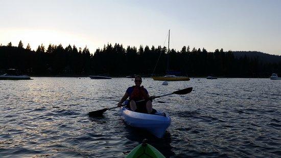 Tahoe City Kayak: Paddling on Lake Tahoe for the sunset tour