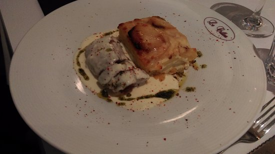 Le Crillon : filet mignon de porc sauce au parmesan et gratin dauphinois