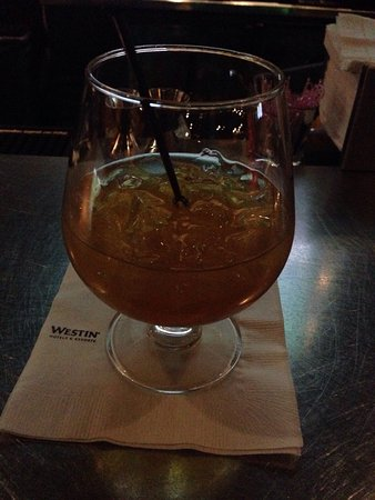 Irving, TX: Sipping at the Bar with a glass of Grand Mariner