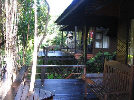 Sepilok, Malaysia: Vista desde la terraza a la otra cabaña