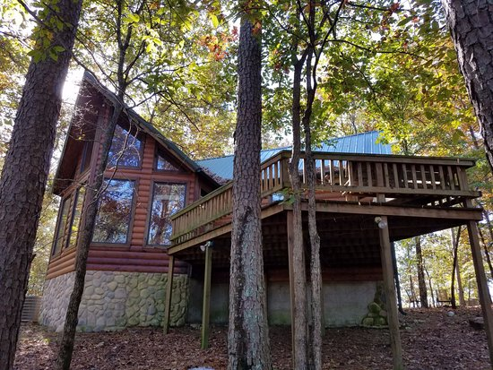 Watson, OK: view of back of cabin