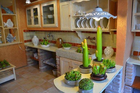 """Castel San Niccolo, Italia: Ceramiche Tapinassi - cucina e serie """"Cactus"""""""