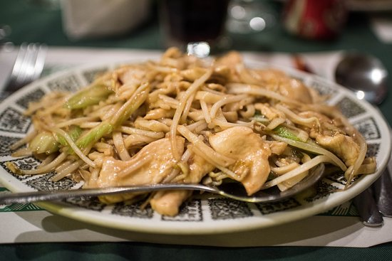 Prescott, Canada: This dish has bean sprouts and chicken.