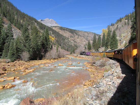 The Grand Restaurant and Saloon: The Durango and Silverton Narrow Gauge RR - This is late autumn - I'd like to see it in Spring!