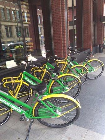 Hilton The Hague: bicycles