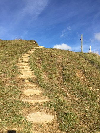 The steps leading up to Painswick Beacon - not strenuous at all but worth knowing.