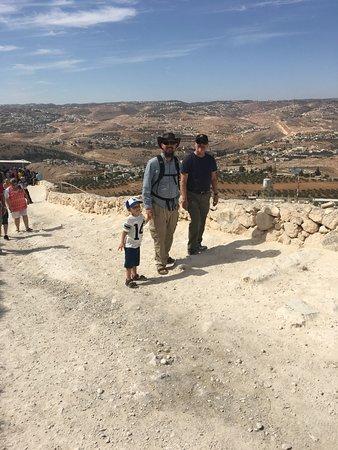Rabbi Eitan Day Tours: Rabbi Eitan walking up Herodian