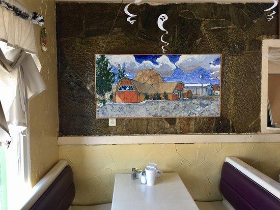Beatty, NV: Beautiful painting by local artist David Ohlerking