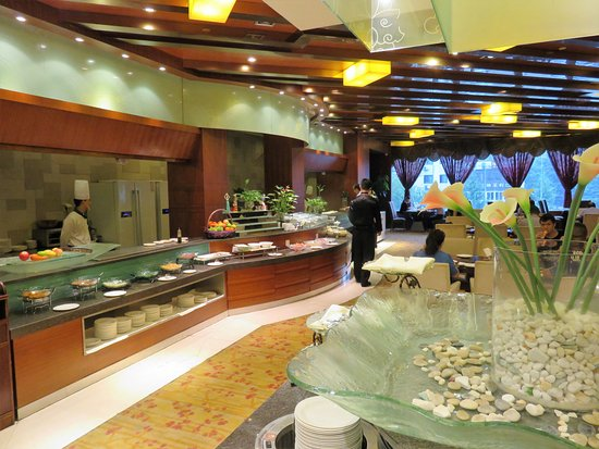Mianyang, จีน: Buffet restaurant