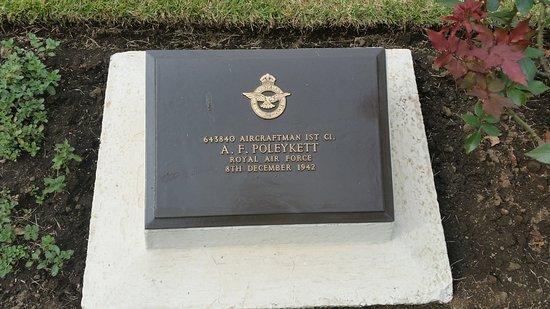 Yokohama War Cemetery : My Uncle's plaque